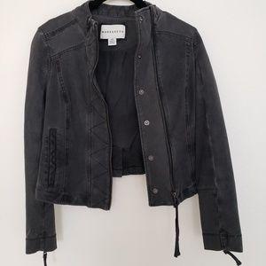 ANTHROPOLOGIE Black Soft Denim Jacket